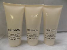 Lot of 3 Piece Halston Shower Gel 1.7 oz Smells Delicious Unboxed