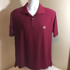 Adidas Mens ClimaLite Maroon Polo Short Sleeve Shirt Small Free Shipping!