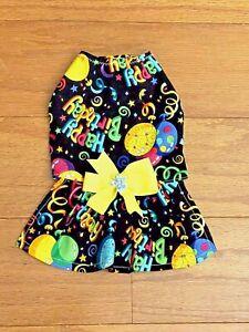 XXSmall - HAPPY BIRTHDAY TO ME Dress - Dog dress clothes- Puppy Apparel