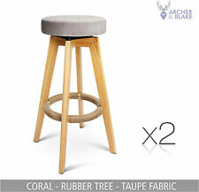 2 kitchen leather chair stool dining set black white timber bar NEW OAK barstool
