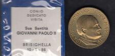 MEDAGLIA PAPA GIOVANNI PAOLO II VISITA BRISIGHELLA 1986 ANGELINI RIMINI GARANZIA