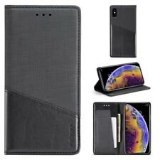 MUXMA Folio Premium Leather Wallet Card Slot Cell Phones Case Stand Shockproof