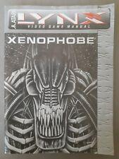 1990 Atari Lynx Xenophobe Game Instruction Manual - Only (no game)