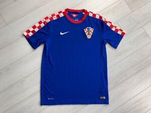 CROATIA HOME FOOTBALL SHIRT 2014/2015 MEN'S SOCCER JERSEY NIKE BLUE SIZE M