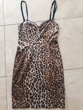 Dolce & Gabbana  D&G Leopard Cheetah Bustier Dress Size 40 Small Authentic Sexy