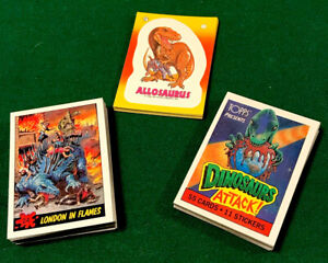 1988 Topps DINOSAURS ATTACK Complete SET 55 Cards 11 Stickers BEAUTIFUL !