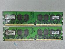2GB 2x1GB Kingston PC2-6400 DDR2-800 240-Pin Desktop Memory RAM #4930