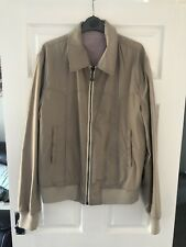 Dolce & Gabbana Men's Beige Harrington Bomber Jacket Reversible 52 Fits Medium M