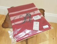 Lovely Red LTD Edition Bronte By Moon Lambswool & Angora Throw Beautiful Blanket
