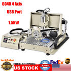 USB 4AXIS 6040 CNC Router Engraver Woodworking Engraving Milling Machine 1500W