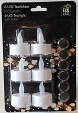 Teelichter LED mit flackern/ 6er Set / inkl.Batterien / Weihnachten *NEU*