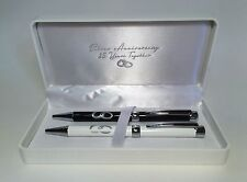 25th Silver Wedding Anniversary Gifts Ideas Quality Gift Boxed Pen Set WG329