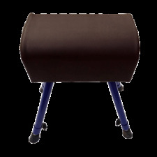 Adjustable Height Pommel Horse Sports Equipment Artificial Leather and Wood