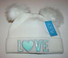 NEW Children's Place Hat & Mittens Set Size S (12-24 Months) White Girls Toddler