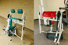 Hammer Strength Plate-Loaded Bicept AND Tricep Machines