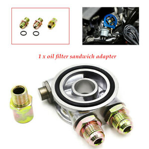 Car Auto Oil Filter Relocation Sandwich Plate Adapter Kit An-10 Fitting Durable