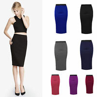 All Year Knee Length Ladies Pencil Skirt Midi  All Size 8-22