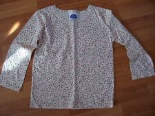 NWNT Cream small flower print long sleeve top, unbranded, Age 11-12 years