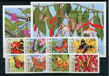 Dominica 1213/20 Block 151/51 postfrisch / Schmetterlinge ................1/1662