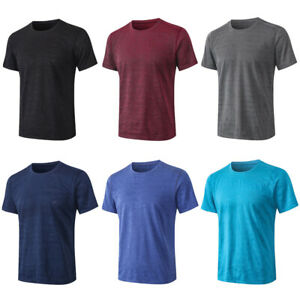 Men Quick Dry Short Sleeve T-Shirts Loose Casual Fitness Running Sports Tops