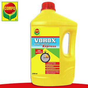 COMPO 2200ml Vorox® Unkrautfrei Express Garten Beet Giersch Moos Bekämpfung