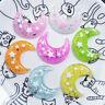 DIY Handicraft Glitter Resin Moon Many Colours 31x32mm Cabochons Decors 10 pcs