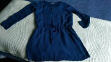 Robe fillette Bel Air 10 ans, manches longues, bleu roi