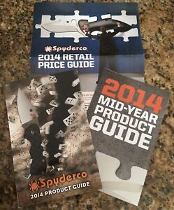 Spyderco 2014 Knife Catalog Product Guide + Mid Year & Pricing + Steel Chart New
