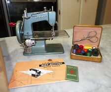 VINTAGE BROTHER BABY BROTHER SEWING MACHINE WITH CASE AND MANUAL & EXTRAS