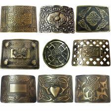 Scottish MEN Kilt Belt Buckle Various Design Antique/Chrome Thistle Buckles L