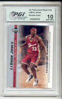 @ LeBron James 2003 PHENOM #2 Set PGI 10 Rookie Card  LaBron!