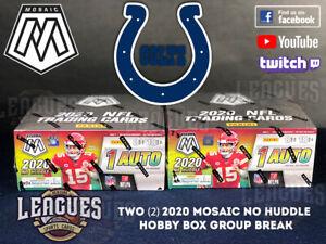 Colts | 2020 Panini Mosaic NO HUDDLE Hobby Box Football Two (2) Box Break