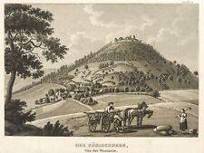 BECHTERSBOHL (KÜSSABERG) - BURG KÜSSABERG - Badenia - Aquatinta 1839