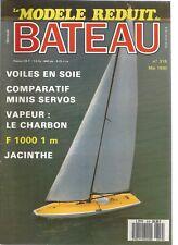 MODELE REDUIT DE BATEAU N°319 BRASURE TENDRE / VOILES EN SOIE / LE JACINTHE