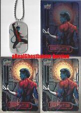 Nightcrawler Dog Tag + 2 Base Cards & 1 Foil Card - Upper Deck Marvel Dossier