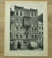 Architektur Jugendstil 1902 Leipzig Kauf Wohnhaus Grimmaiser Steinweg 11 26x34cm