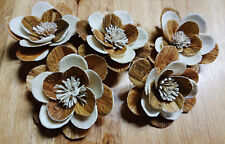 10 W/B Starburst flowers  Sola Wood Diffuser Flowers 7+ cm Dia.