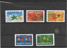 FRANCE 2004. MEILLEURS VOEUX. SERIE COMPLETE DE 5 TIMBRES AA OBLITERES 44/48