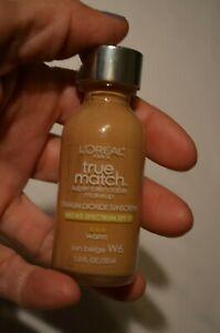 New LOREAL True Match Super-Blendable Makeup Warm Sun Beige W6