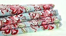 5 Yard Indian Fabric Cotton Batik Floral Hand Block print Fabric Sanganri fabric