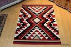 4' x 6' FT. Southwestern Floral Kazakh handmade tribal kilim kelim Navajo Design