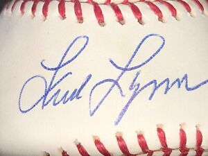 Fred Lynn Autographed Ball Steiner