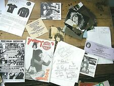 MARC BOLAN / T REX  -     Various items of memorabilia, + signatures
