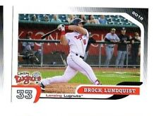 Brock Lundquist 2018 Lansing Lugnuts team set card Fountain Valley CA Long Beach