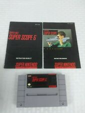 Super Scope 6 & Manuals Super Nintendo Authentic SNES Game Cartridge Tested