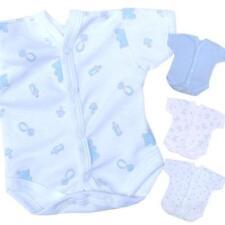 Bodys et grenouillères bleu pour garçon de 0 à 24 mois en 100% coton