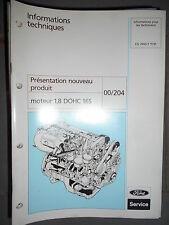 Ford : documentation Ford présentation moteur 1.8 DOHC 16S - 1992 CG7455