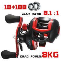 Casting Fishing Reel Baitcasting Fishing Tackle18+1BB 8.1:1 7.1:1 Max Drag 8kg