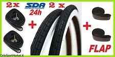 2 Reifen + 2 Fahrradschläuche+flap Abdeckung Strahlen 28 X 1 5/8 1 3/8 700 x 35