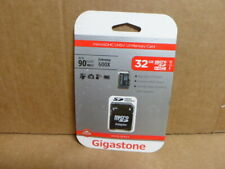 Gigastone 32GB Micro SDHC UHS-1 Class 10 90MBs Memory Card and Adapter